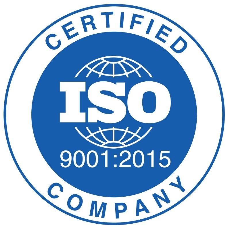 logo certificazione aziendale iso 9001:2015